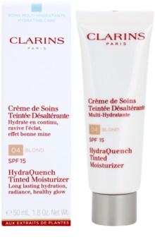 Clarins HydraQuench gyengéd tonizáló krém hidratáló hatással SPF 15