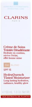 Clarins HydraQuench lehký tónovací krém s hydratačním účinkem SPF15