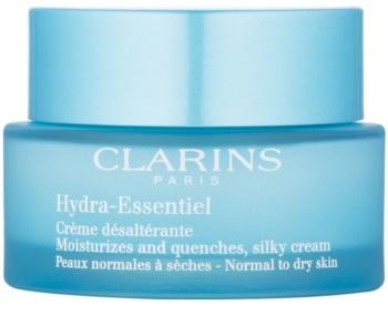 Clarins Hydra-Essentiel crema suavizante e hidratante con efecto sedoso para pieles normales y secas