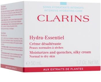 Clarins Hydra-Essentiel selymesen gyengéd hidratáló krém normál és száraz bőrre
