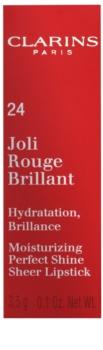 Clarins Lip Make-Up Joli Rouge Brillant hydratační rtěnka s vysokým leskem