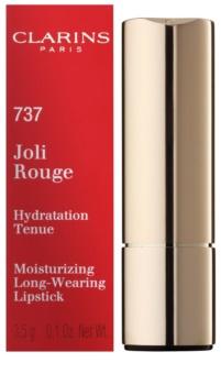 Clarins Lip Make-Up Joli Rouge langanhaltender Lippenstift mit feuchtigkeitsspendender Wirkung