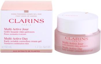 Clarins Multi-Active krem-żel na dzień wygładzający niewielkie zmarszczki do cery normalnej i mieszanej