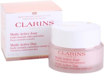 Clarins Multi-Active denní gelový krém na vyhlazení jemných vrásek pro normální až smíšenou pleť