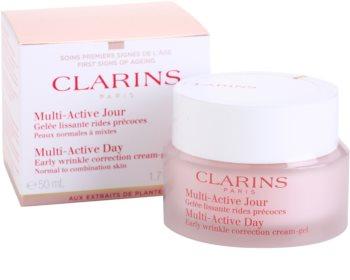 Clarins Multi-Active denný gélový krém na vyhladenie jemných vrások pre normálnu až zmiešanú pleť