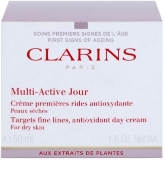Clarins Multi-Active crema de zi antioxidanta ten uscat