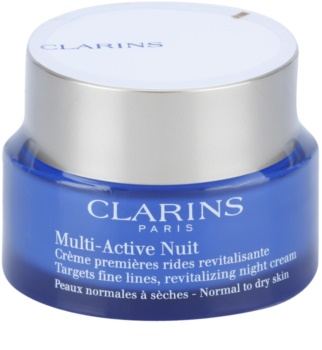 Clarins Multi-Active crema de noche revitalizante para suavizar las líneas de expresión para pieles normales y secas