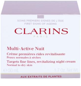Clarins Multi-Active noční revitalizační krém na jemné linky pro normální a suchou pleť