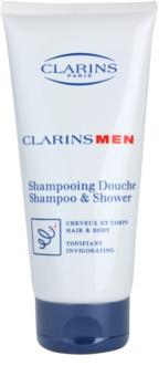 Clarins Men Wash δροσιστικό σαμπουάν για σώμα και μαλλιά