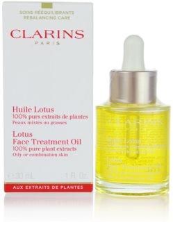 Clarins Rebalancing Care регенериращо масло с изглаждащ ефект за смесена и мазна кожа