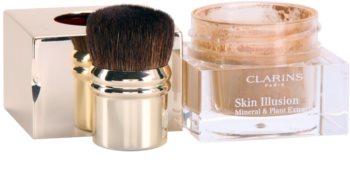 Clarins Face Make-Up Skin Illusion pudrasti make-up v prahu za naraven videz s čopičem