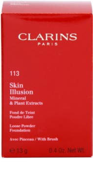 Clarins Face Make-Up Skin Illusion Loose Powder Foundation for Natural Look With Brush