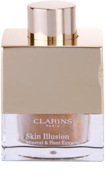 Clarins Face Make-Up Skin Illusion Könnyű púder alapozó a természetes hatásért ecsettel
