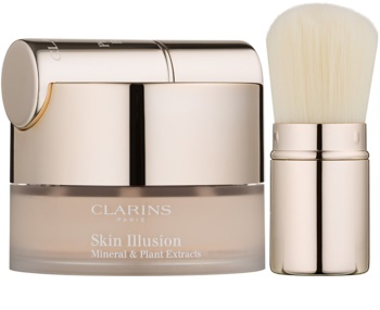 Clarins Face Make-Up Skin Illusion pudrový make-up se štětečkem
