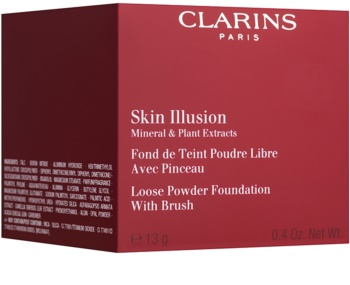 Clarins Face Make-Up Skin Illusion pudrový make-up se štětečkem