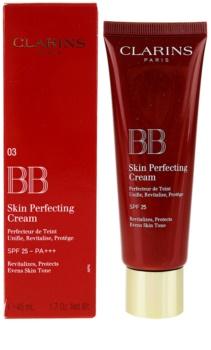 Clarins Face Make-Up BB Skin Perfecting Cream BB Creme für ein makelloses und gleichmäßiges Aussehen der Haut SPF 25