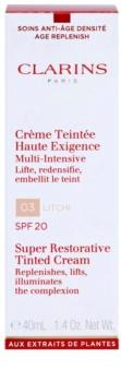 Clarins Super Restorative regeneráló tonizáló krém a ráncok ellen SPF 20