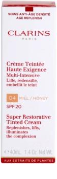 Clarins Super Restorative regeneračný tónovací krém proti vráskam SPF 20