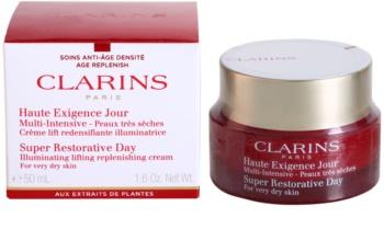 Clarins Super Restorative Day Illuminating Lifting Replenishing Cream for Very Dry Skin