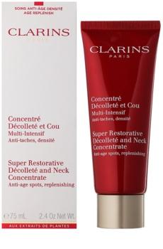 Clarins Super Restorative spevňujúci protivráskový krém na krk a dekolt