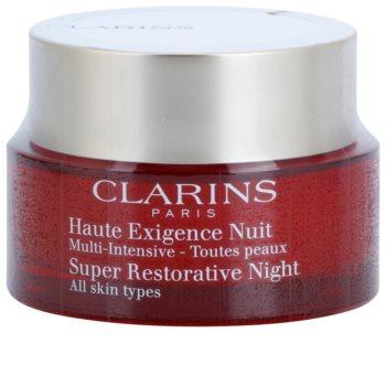 Clarins Super Restorative crème de nuit anti-signes de vieillissement  pour tous types de peau
