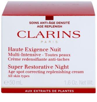 Clarins Super Restorative crema de noapte împotriva tuturor semnelor de imbatranire pentru toate tipurile de ten