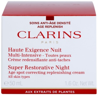 Clarins Super Restorative éjszakai krém az öregedés összes jele ellen minden bőrtípusra