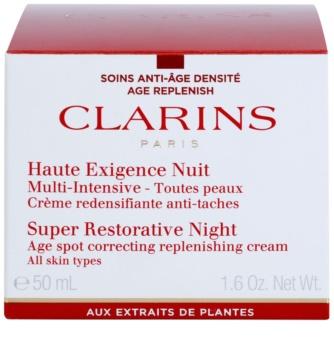 Clarins Super Restorative noční krém proti projevům stárnutí pleti pro všechny typy pleti