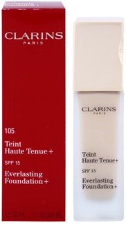 Clarins Face Make-Up Everlasting Foundation+ стійкий  тональний  крем SPF 15