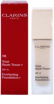 Clarins Face Make-Up Everlasting Foundation+ hosszan tartó folyékony make-up SPF 15