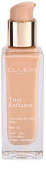 Clarins Face Make-Up True Radiance aufhellendes und feuchtigkeitsspendendes Make up für einen perfekten Look LSF 15
