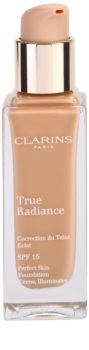 Clarins Face Make-Up True Radiance élénkítő hidratáló make -up a tökéletes küllemért SPF 15