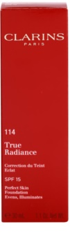Clarins Face Make-Up True Radiance posvetlitveni in vlažilni tekoči puder za popoln videz SPF 15