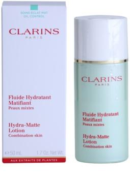 Clarins Truly Matte nyugtató és hidratáló fluid a fénylő arcbőr és a kitágult pórusok ellen