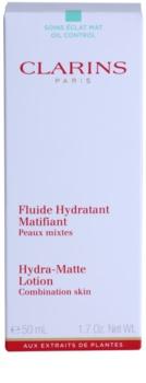 Clarins Truly Matte zklidňující a hydratační fluid proti lesknutí pleti a rozšířeným pórům