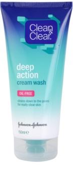 Clean & Clear Deep Action crème-émulsion nettoyante en profondeur visage