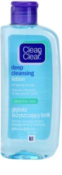 Clean & Clear Deep Cleansing hĺbková čistiaca pleťová voda pre citlivú pleť