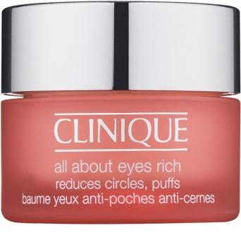 Clinique All About Eyes Rich hydratisierende Augencreme gegen Schwellungen und Augenringe