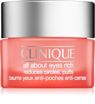 Clinique All About Eyes Rich hidratáló szemkörnyékápoló krém a duzzanatokra és a sötét karikákra