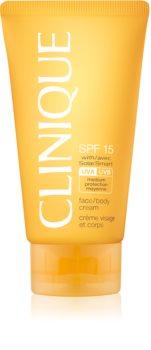 Clinique Sun crema pentru bronzat SPF 15