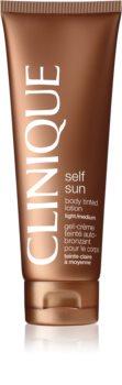 Clinique Self Sun leche autobronceadora corporal