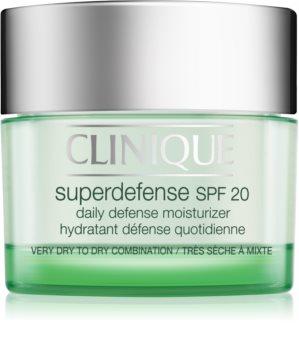 Clinique Superdefense dnevna vlažilna in zaščitna krema za suho in mešano kožo