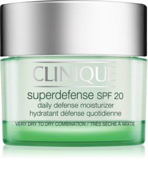 Clinique Superdefense krem nawilżająco-ochronny na dzień do skóry suchej i mieszanej