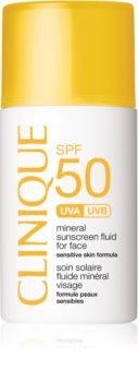 Clinique Sun mineralni fluid za sončenje za obraz SPF 50
