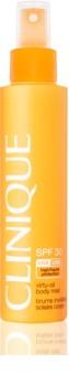 Clinique Sun leite bronzeador não gorduroso em spray  SPF 30