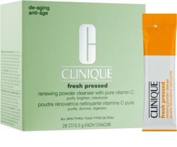 Clinique Fresh Pressed čisticí pudr s vitaminem C