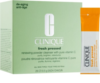 Clinique Fresh Pressed čisticí pudr s vitaminem C