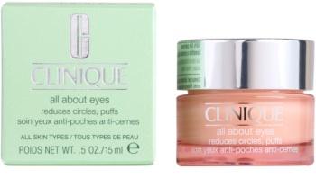 Clinique All About Eyes szemkrém a duzzanatokra és a sötét karikákra