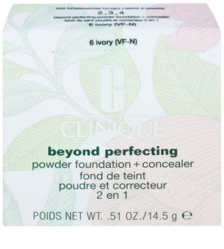 Clinique Beyond Perfecting пудровий тональний крем з коректором 2 в 1