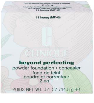 Clinique Beyond Perfecting machiaj sub formă de pudră cu corectorul 2 in 1